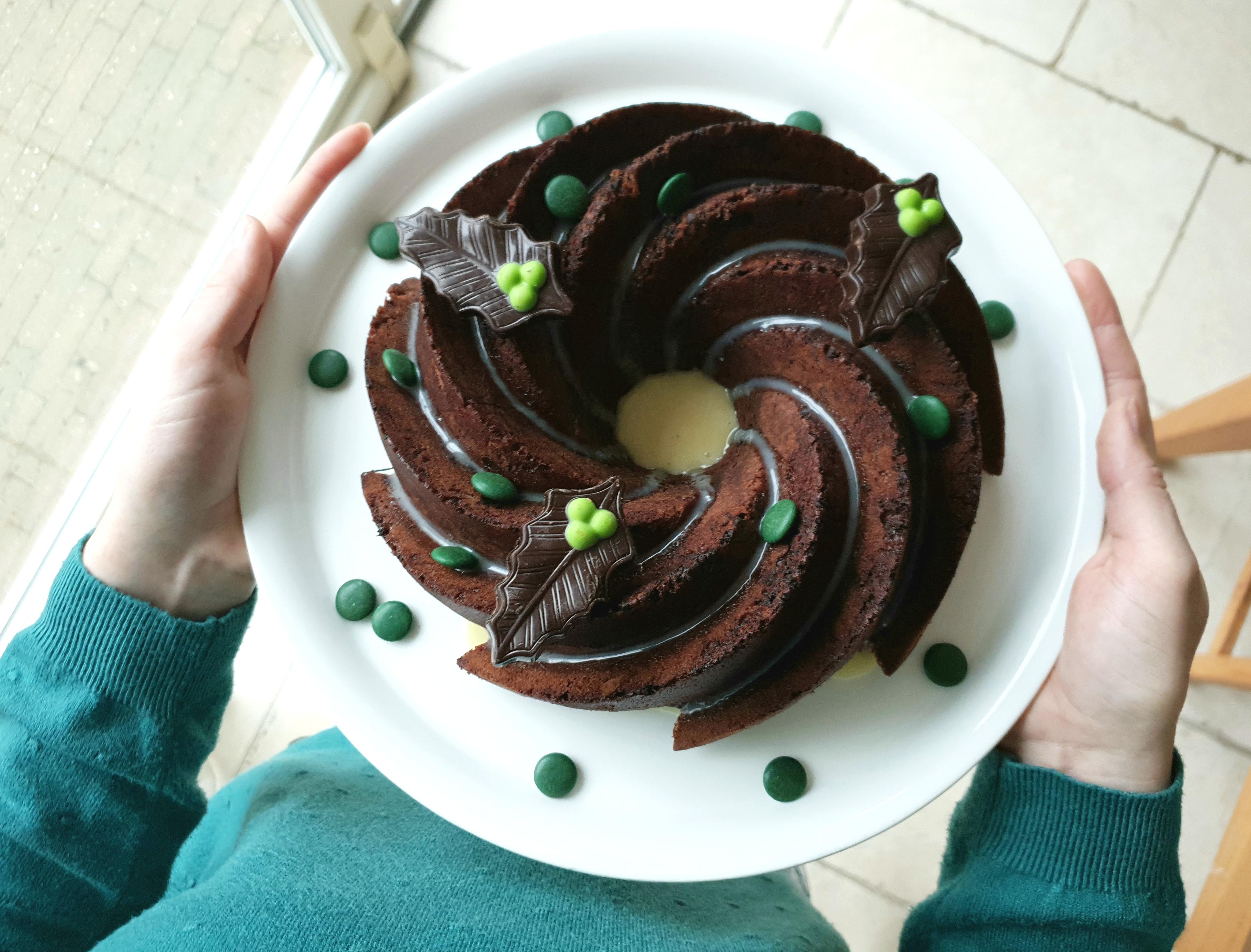 Chocolade kerst tulband cake
