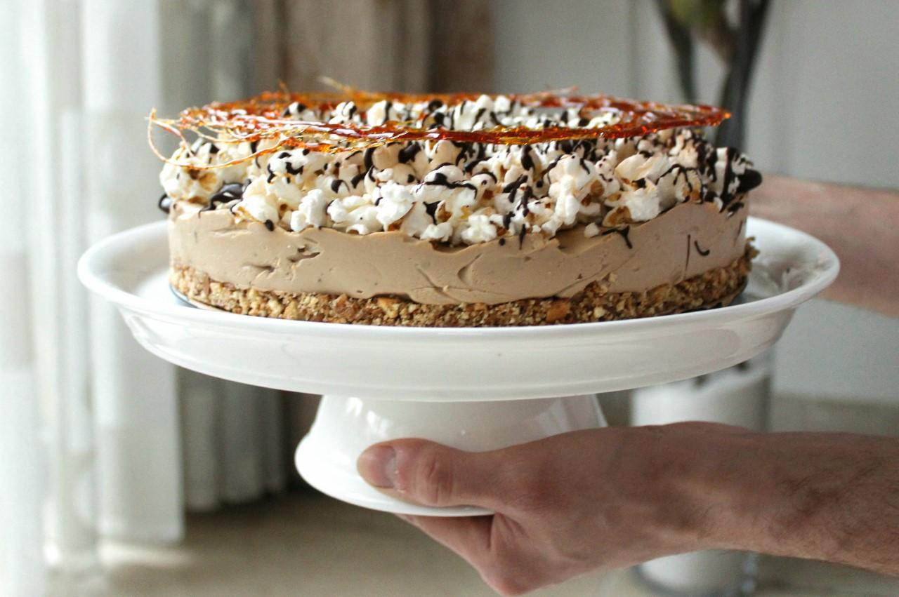 No-Bake: Mokka popcorn taart