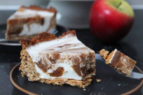 Verantwoorde appelmoes yoghurt taart